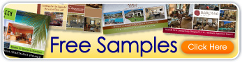 Free apartment postcard and brochure samples