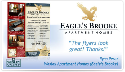 Eagle's Brook Apartment Homes Flyer Testimonial