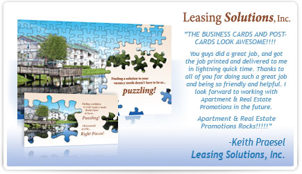 Leasing Solutions Business Card Testimonial